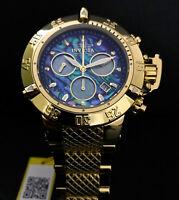 Invicta Mens Subaqua Noma III Chronograph Abalone Gold High Polish Watch 90142