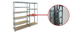 4 er SET  Verbinder für Metallregal Steckregal Regal HELIOS - Serie  / verzinkt