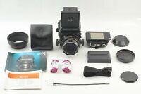 [Mint] Mamiya RB67 Pro S Camera Sekor C 90mm f/3.8 Lens Manual Hood Test Film JP