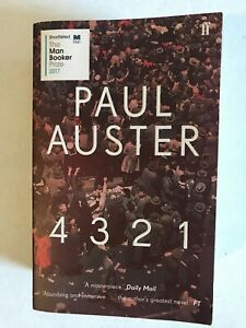 4 3 2 1 by Paul Auster Paperback 2017 Very Good Condition