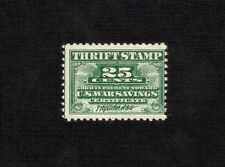 #WS1 1917 25c War Savings Stamp MNG VF.
