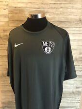 NWT Nike Dry NBA Brooklyn Nets Gray&Black Practice Jersey Mens Size 4XL N12