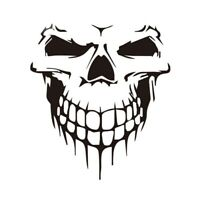 1X(Car Sticker Car Tattoo Skull Skeleton Large Decorative Sticker (Black) R7 W2E