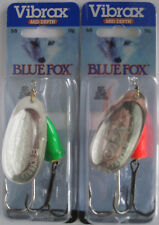 2 - BLUE FOX Classic Vibrax Spinners - Size 6 (5/8 oz.) - Two Colors!