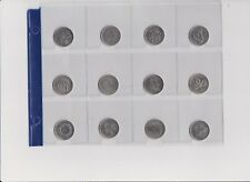 12 x 2000 Millennium Canadian Quarter 25 Cent Coin Set Canada Circulated