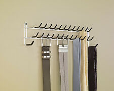 Tie Belt Hanger Rack Necktie Holder Closet Organizer Scarf Shelf Door Wall Mount
