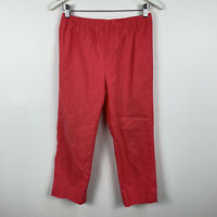 Blue Illusion Womens Pants Size Medium Elastic Waist Light Red Good Condition