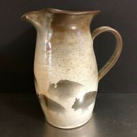 Norby Pottery Pitcher Bison Motif Hand Thrown Art Pottery Yellowstone USA Signed