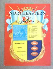 R.P.I. @ NORTHEASTERN COLLEGE FOOTBALL PROGRAM - 1952 - EX/NM SHAPE
