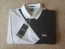 Hugo Boss Men's Polo Shirt XXL 'Paddy 6' black, white & grey, new with tags