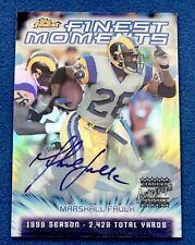 2000 Topps Finest Moments Marshall Faulk Auto Autograph Refractor, Rams HOFer!