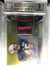 2012 Bowman Stirling Bgs 9 10 HIGHTOWER Rookie Auto Patch Refractor