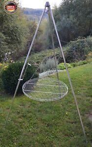 Dreibein-Schwenkgrill inkl. 70 cm Edelstahl-Grillrost