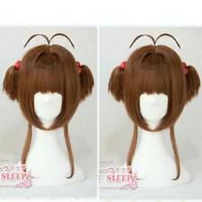 Card Captor Sakura Cosplay Wig Hair + 2 Red Hair Bands + Wig Cap Costume Prop