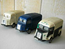 LOT DE 3 NOREV CITROËN 1200KG N°81 EN PLASTIQUE AU 1/43 MADE IN FRANCE