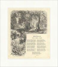 Château Boncourt Adelbert de Chamisso forêt Bach poème park Gravure sur bois e 4198