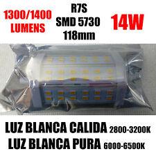 X1 BOMBILLAS LED R7S 118mm 14W 1400 LUMENS HALOGENOS LAMPARAS APLIQUES BARATAS
