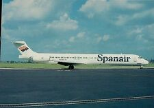 A4876mdt Transport Spanair Airlines MD83 Aircraft postcard