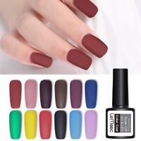 LEMOOC 8ml Matte Gel Polish Soak Off Nail Art Gel Varnish UV Gel Colors