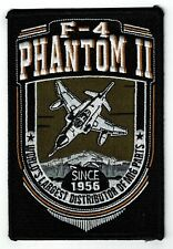 New F-4 PHANTOM II Air Force Fighter Squadron Patch 4 inch by 6 inch