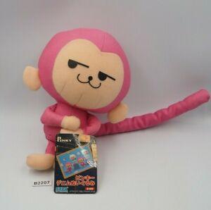 """Pinky Pink Monkey Saru Animal B2207 SEGA 2005 Plush 7"""" TAG Toy Doll Japan"""
