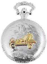 Taschenuhr Weiß Silber Gold Auto Jeep Quarz Herrenuhr D-50742408237299