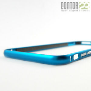Aluminium Bumper Apple iPhone 6/6S Plus CYAN + 9H Panzerfolie [Schutzhülle]