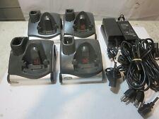 Lot of 4 Symbol Motorola Mc9060 Mc909 Charging Cradle Crd9000-1001S + Ac Adapter