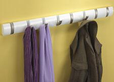 Umbra Flip 5-hook Wall-mount Rack/rail 8 Hook Bianco