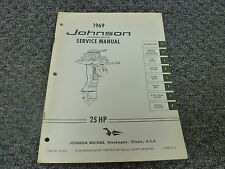 Motor repair manual 1969 ebay 1969 johnson 25 hp models outboard motor shop service repair technical manual sciox Image collections