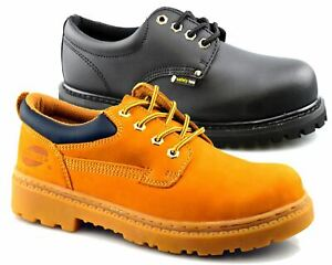 Mens Leather Steel Toe Cap Lace Up Safety Hiker Work Boots Low Top Shoes Size
