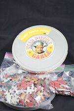 Vtg 1969 Round Movie Star Puzzle Clark Gable 300 Pieces Complete 16MM Film Can