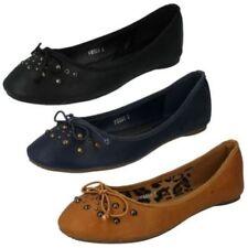 Zapatos planos de mujer de color principal marrón Talla 39