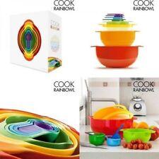 Set 8 Piezas Envases Utensilios de Cocina,ensaladera, bol, colador, 4 medidores