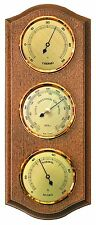 FISCHER Weather stat.ins.thermometer Barometro Igrometro, ROVERE RUSTIC 9175-31-uk