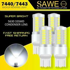 4 X Sawe Super White Canbus 7443 7440 7444 33smd Led Back Up Reverse Light Bulbs