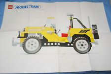 Lego Model Team Poster from 1986 115583 set 5510 Folded 23 1/2 x 16 1/2