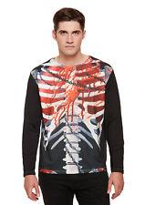 Mens Halloween Horror T Shirt Top Skeleton Groom Zombie Fancy Dress Costume
