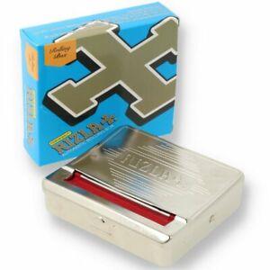 Rizla Silver Automatic Rolling Aid Box 70mm Regular Cigarette Size Machine & Tin