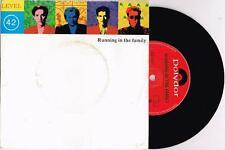 "LEVEL 42 - RUNNING IN THE FAMILY - 7"" 45 VINYL RECORD w PICT SLV - 1987"
