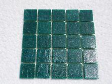 "Dark Green Vitreous Glass Tiles 25 x pcs MOSAIC & Glass Crafts Appro ""2cm x 2cm"""