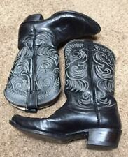 OLATHE made In USA Mens 9 D Tall Black Leather Western Boots