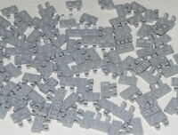 Lego Lot of 100 New Light Bluish Gray Plates Modified 1 x 2 with Clips Pieces