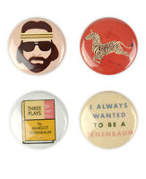 Royal Tenenbaum Badge Set! Wes Anderson, Gwyneth Paltrow, Owen Wilson, Margot,