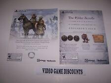 Elder Scrolls Online Explorers Pack & Skyrim DLC Vouchers for Playstation 4