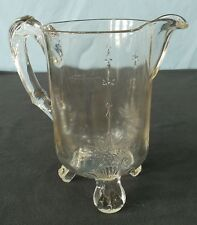 Antique Riverside Glass EAPG Pitcher Grasshopper w/o Insect