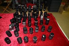 Lot de 48 Télé objectifs photo diverses