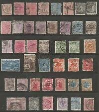 NEW ZEALAND VICTORIAN SELECTION OF 42 STAMPS,MAILY FINE USED,HIGH CAT,GOOD VALUE