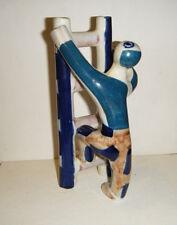 "MCM Vtg Modern Sargadelos Spain Man Climbing Ladder  Porcelain Figurine 7"""