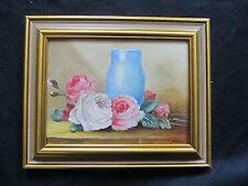 """Belle huile signée NERLOW """" les roses prés du vase """""""